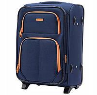 Дорожный текстильный чемодан Wings 214 размер S (ручная кладь) синий, фото 1