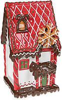 Банка для сладостей банки для печенье конфет Пряничная Сказка Красный Домик 3.2л керамическая
