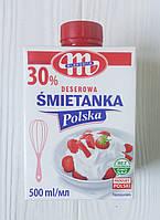 Вершки 30% Mlekovita Smietanka Polska, 500мл (Польща)