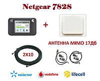 Комплект для интернета (3G/4G/LTE) Роутер Netgear 782S + Антенна планшетная MIMO 2×17+стартовый пакет