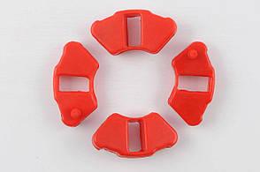 Резинка демпферная комплект на мопед Delta красная эластичная