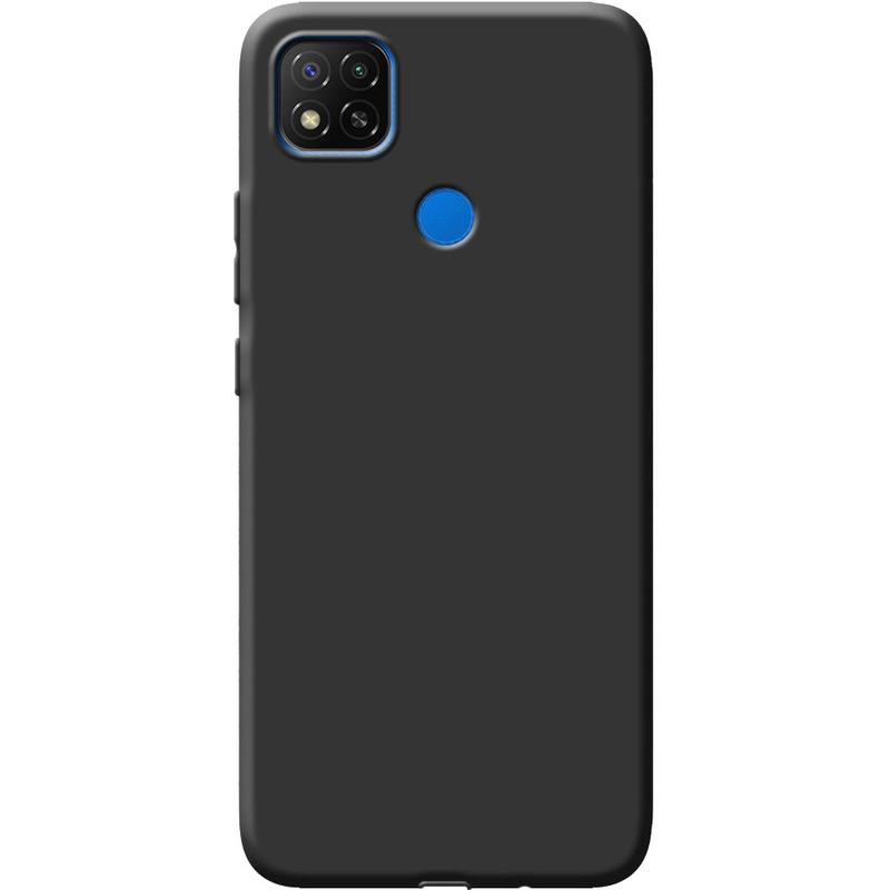 Чехол для Xiaomi Redmi 9C силиконовый матовый, Черный