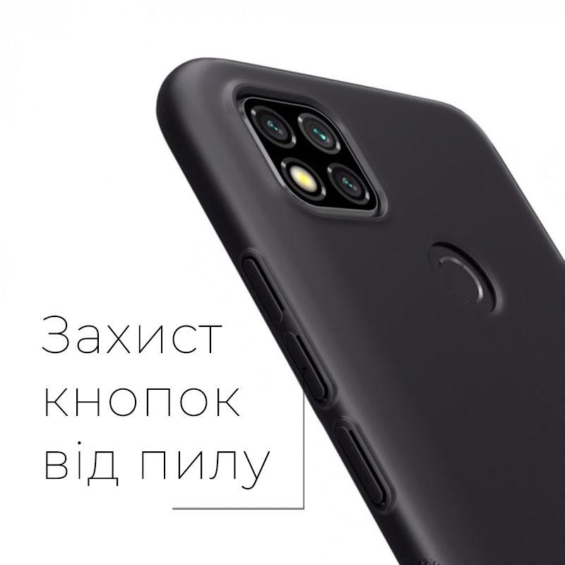 силиконовый чехол Xiaomi Redmi 9C матовый черный -1