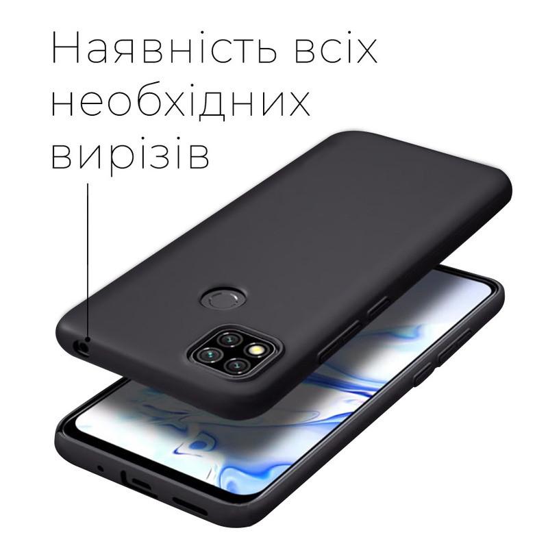 силиконовый чехол Xiaomi Redmi 9C матовый черный -2