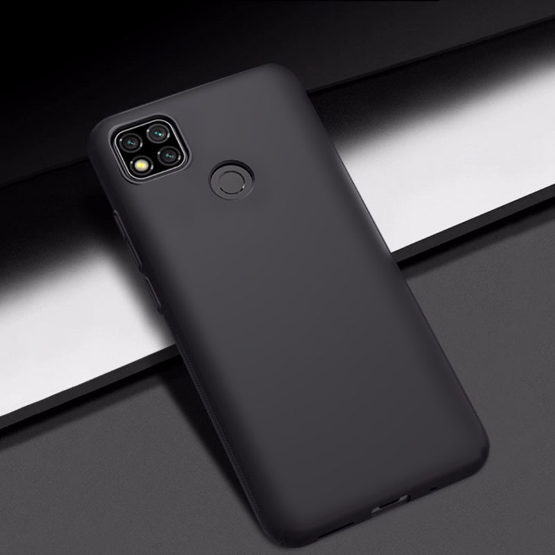силиконовый чехол Xiaomi Redmi 9C матовый черный