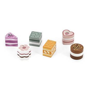 Игрушечные продукты Viga Toys PolarB Деревянные пирожные, 6 шт. (44055)