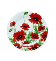 Тарелка столовая мелкая Червоний мак 20см