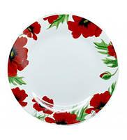 Тарелка столовая мелкая Червоний мак 23см