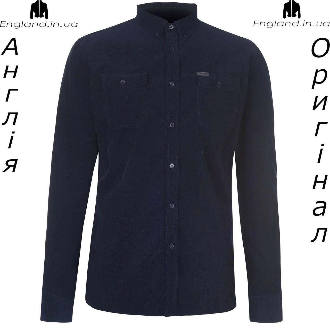 Рубашка вельветовая мужская Firetrap из Англии - на длинный рукав