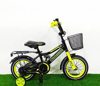 """Детский велосипед Crosser Rocky 16"""" Черно-желтый"""
