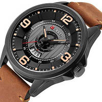 Мужские наручные часы противоударные Curren 8305 Black-Brown