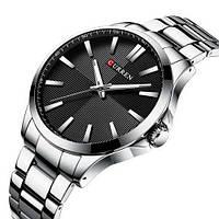 Мужские наручные часы противоударные Curren 8322 Silver-Black