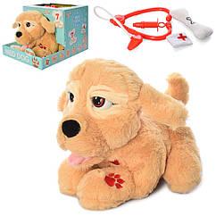 Собака 099D 26см, стетоскоп, шприц, кісточка