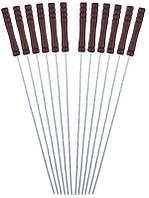 Набор 12 шампуров Kamille Скаут 38см с деревянной ручкой