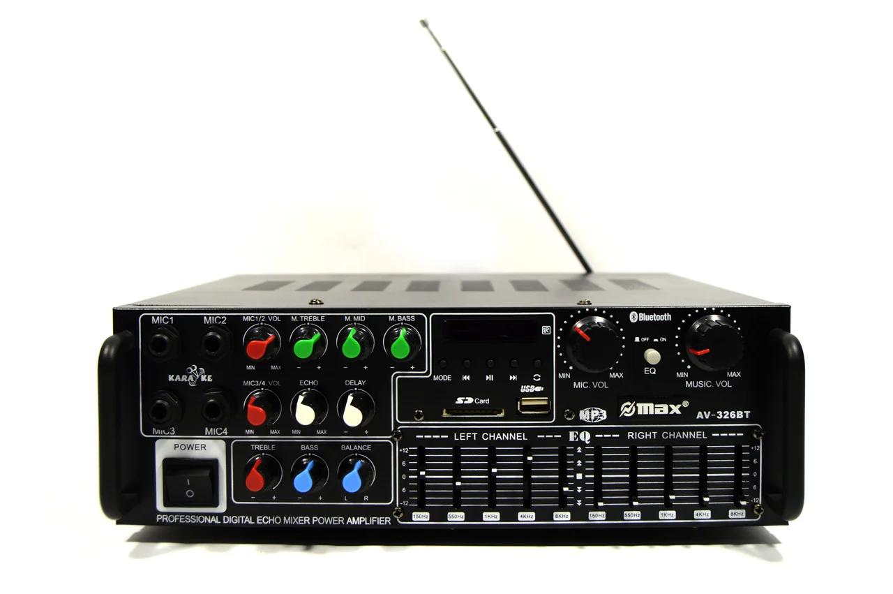 Усилитель мощности звука UKC / MAX AV-326BT Bluetooth