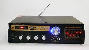 Усилитель звука для колонок Max SN-888BT Bluetooth караоке на 2 микрофона