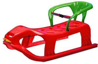 Детские санки Marmat пластиковые, на верёвке, красные