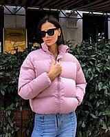 Весенняя женская куртка цвет розовый