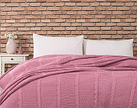 Покрывало вязаное Комильфо розовый 220х240 p73-1747