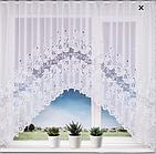 Тюль штора арка на кухню Белая 165*340 код Ф-6