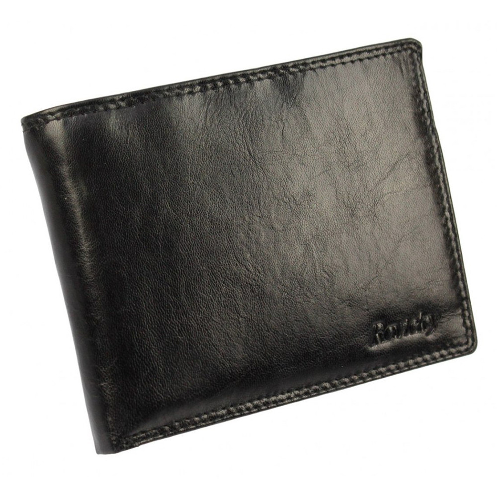 Портмоне мужское кожаное черное Rovicky N1905-RVTK Black