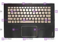 Оригинальная клавиатура для ноутбука Lenovo Yoga 900s-12ISK series, gold, ru, подсветка, передняя панель
