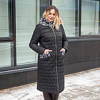 Весна женские Куртки большого размера 50-60 черный