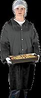Защитный халат из полиэтилена на кнопках Reis (FLAB) черный