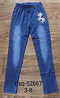 Лосини з імітацією джинси для дівчаток Seagull, 3-8 років. Артикул: CSQ52667, фото 1