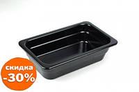 Гастроемкость без ручек One Chef черная 1/3 32,5х17,4 см h6,5 см меламин (1365E)