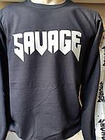 Батник чоловічий трикотаж з накаткою SAVAGE,2-х нитка 001,купити оптом