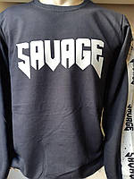 Батник мужской трикотаж с накаткой SAVAGE,2-х нитка 001,купить оптом