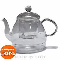 Чайник заварочный Оленс Перлина с стекляным ситечком 600мл стекло (16936-33-1)