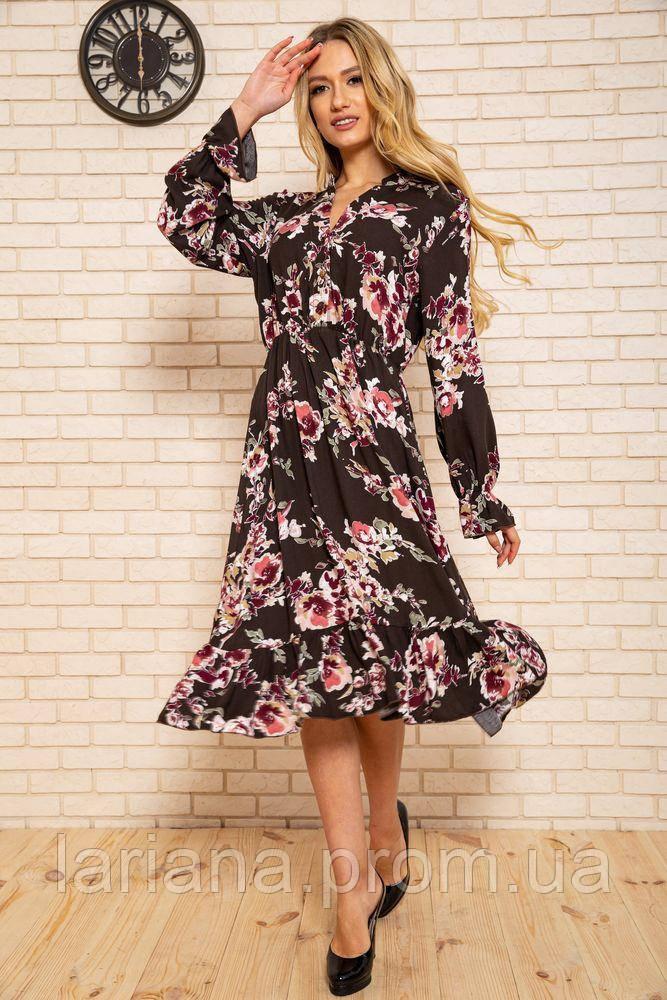Сукня жіноча 115R393-6 колір Коричневий