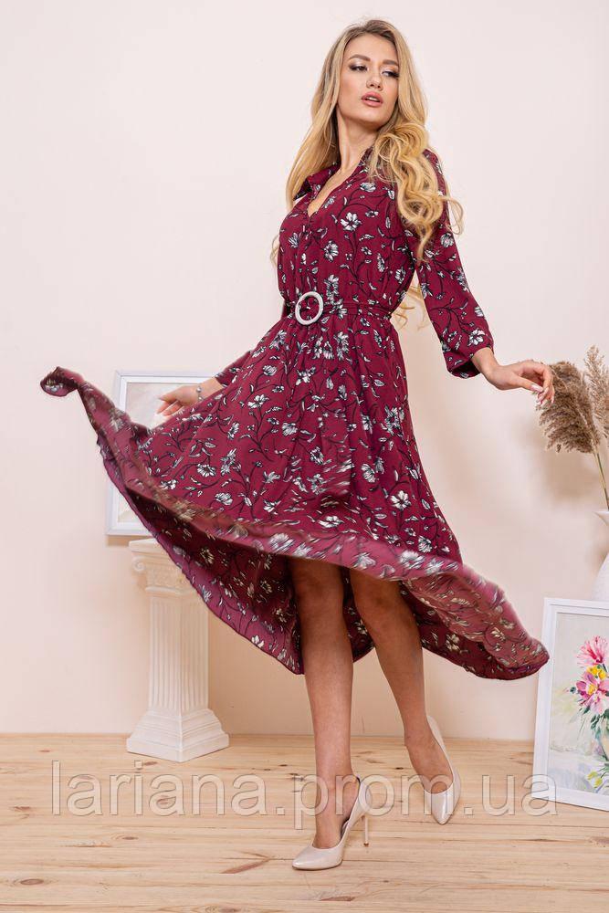 Платье женское 115R392-2 цвет Бордовый
