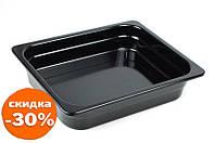 Гастроемкость без ручек One Chef черная 1/2 32х26,2 см h6,5 см меламин (1265E)