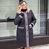 Женская весенняя куртка больших размеров 50-60 синий