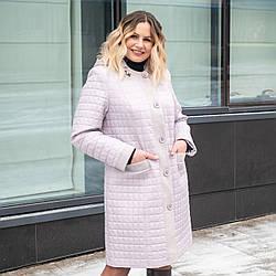 Весна женские Куртки больших размеров   52-60 жемчужный
