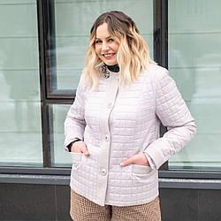 Женская демисезонная  куртка больших размеров  50-60 жемчуг