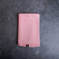 Бафф-хомут молодежный зимний однотонный розового цвета