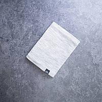 Светло-серый теплый шарф-хомут на микрофлисе
