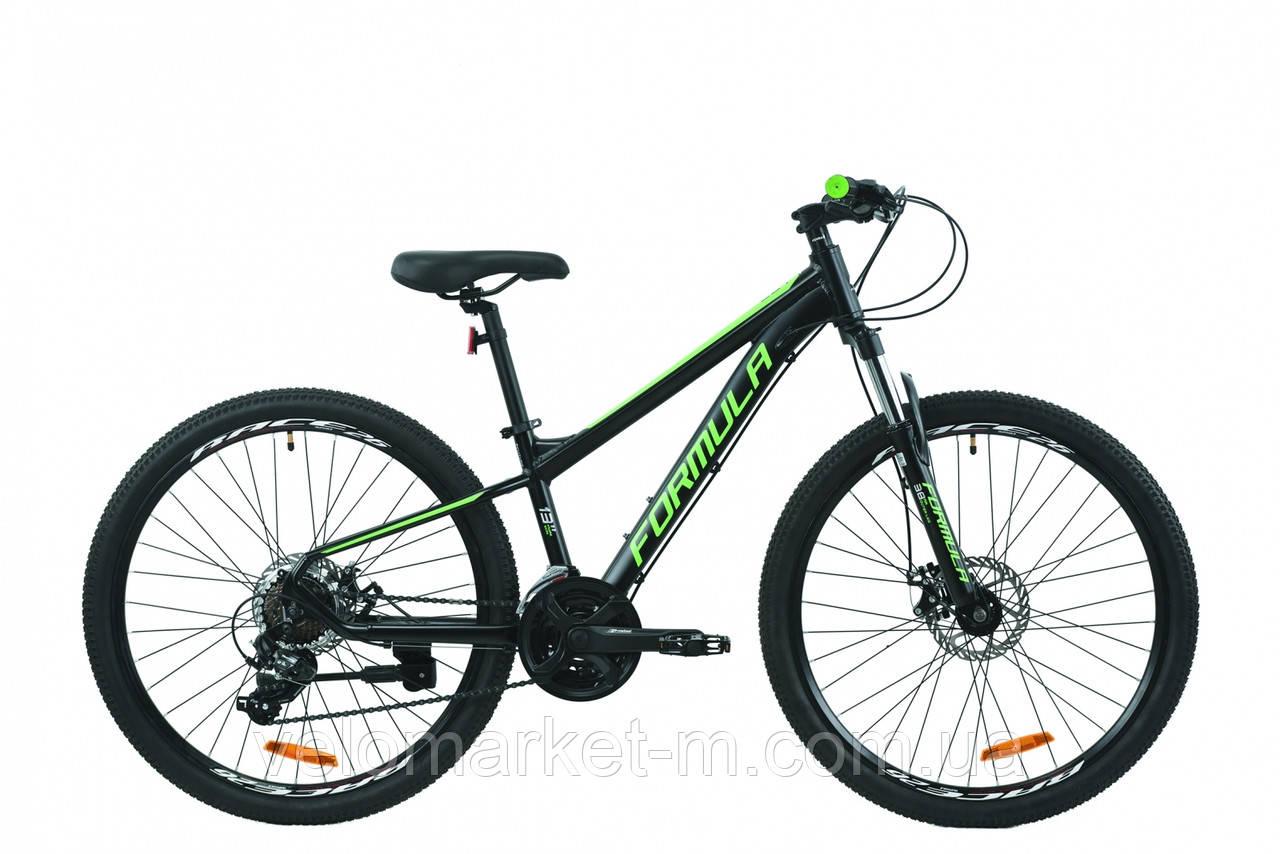 """Велосипед 26"""" Formula F-1 DD 13"""" 2020 черно-зеленый"""