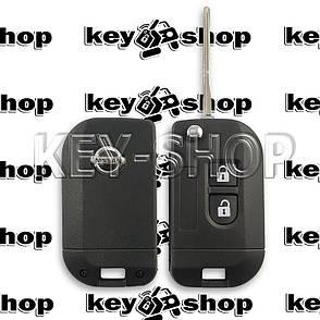 Корпус выкидного автоключа для Nissan (Ниссан), 2 кнопки (под переделку), фото 2