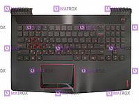 Оригинальная клавиатура для ноутбука Lenovo Legion R720, R720-15IKB series, rus, black, передняя панель