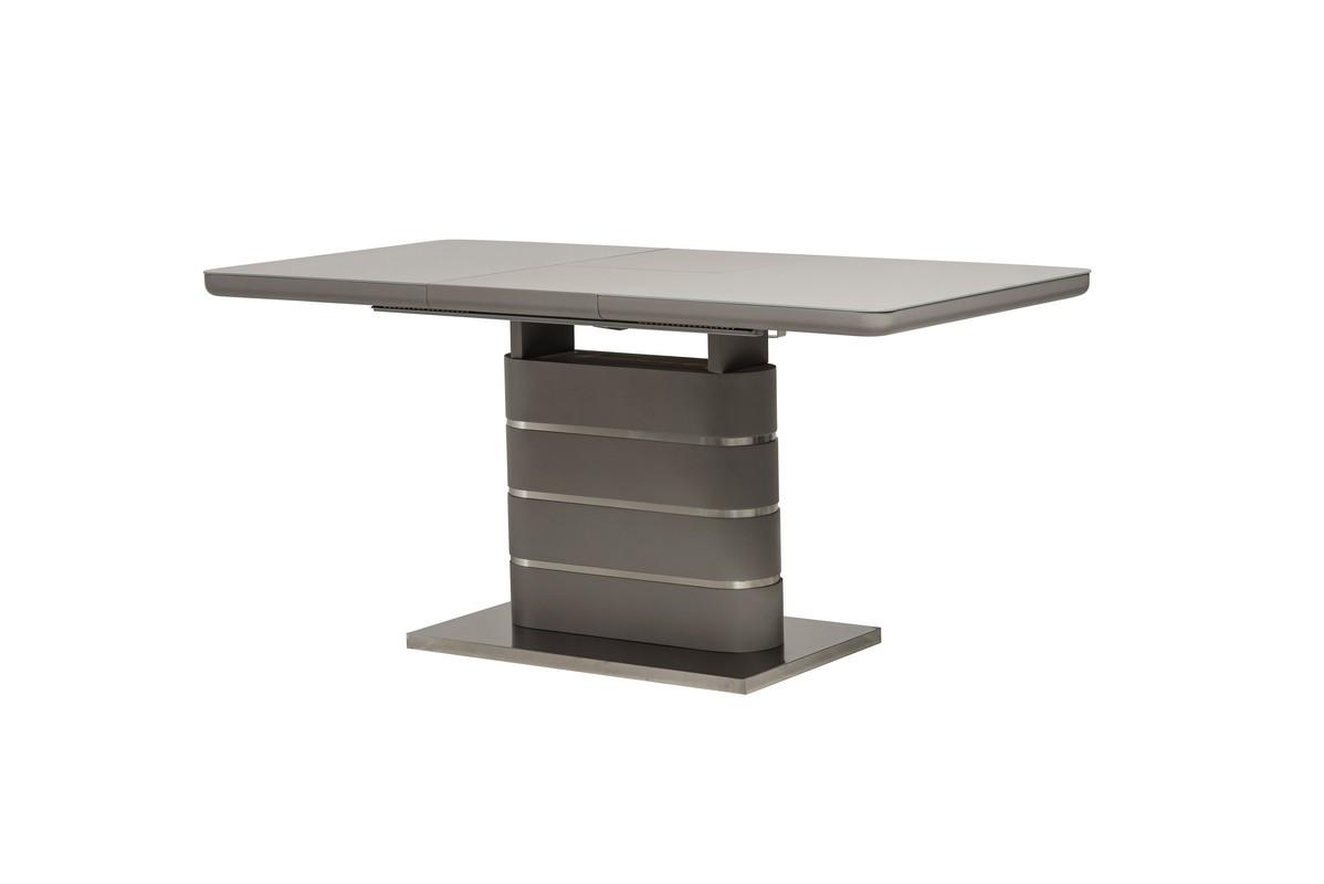 Обеденный стол ТМ-52-1 серый глянец 120/160 от Vetro Mebel  (бесплатная доставка)