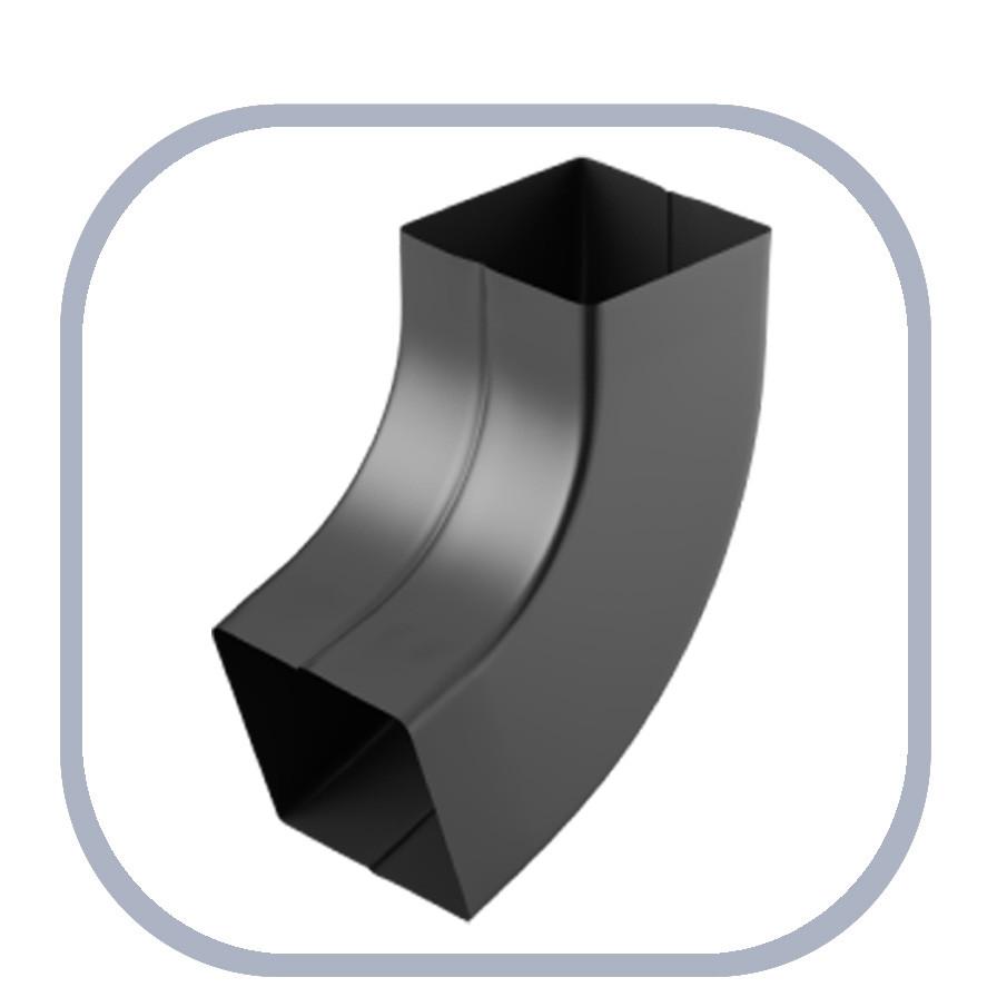 Колено для квадратной водосточной трубы Q Stalyo, водосточная система прямоугольного сечения