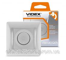VIDEX BINERA Диммер 600Вт срібний шовк (VF-BNDM600-SS) (16/96)