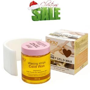 Холодный воск для депиляции Wokali Depilatory Honey Cold Wax Honey / Мед 380 г