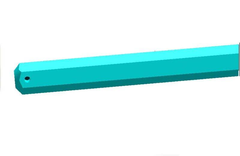 Вал шестигранний на сівалку УПС 509.046.6013-01 (S=22, L=2700мм)