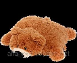 Подушка-іграшка Аліна ведмедик 45 см коричнева